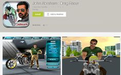 Have you played John Abraham's Drag Racing Android Game App - PITSTROKE
