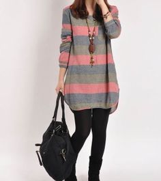 Red cotton dress long sleeve dress casual by originalstyleshop, $59.50