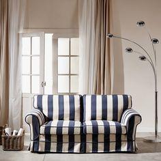 ATLANTICO kanapé kék fehér 190x90x93cm Couch, Curtains, Furniture, Home Decor, Settee, Blinds, Decoration Home, Sofa, Room Decor