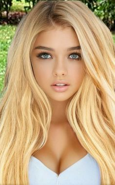 Most Beautiful Faces, Beautiful Women Pictures, Gorgeous Eyes, Beautiful Girl Image, Dark Blonde Hair Color, Blonde Hair Looks, Blonde Beauty, Hair Beauty, Cute Beauty