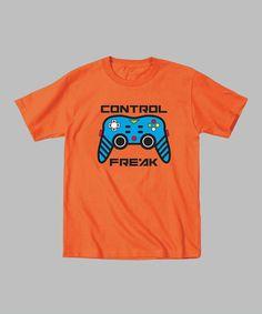Orange 'Control Freak' Tee