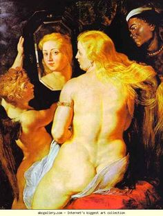 Peter Paul Rubens. Venus at a Mirror. Olga's Gallery.