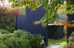 Paint garden wall in another colour to make interesting focal points #SummerGardening