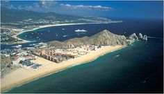 Cabo San Lucas, on the Baja Peninsula, is located at the bay where the Sea of Cortez meets the Pacific ocean.