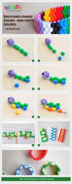 Bracelet en perles hama, c'est très facile à réaliser ! http://fr.pandahall.com/diy-perles-de-fusible/625-1.html?datastyle=1