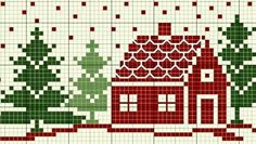 House cross stitch pattern