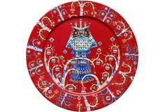 Iittala Taika lautanen 27 cm punainen e Red Dinner Plates, Shops, Owl Patterns, Katana, Joss And Main, Beautiful Birds, Scandinavian Design, Blue Bird, Folklore
