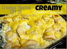 Cracker Barrel Creamy Chicken Casserole  Chicken Rice Cr of Chix Soup Onion Chix Gravy Mix