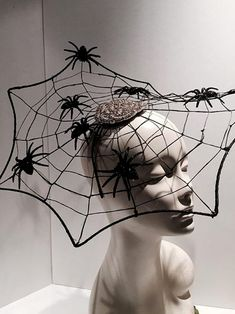 Items similar to Spider Web Fascinator- Halloween Headband- witch hat-Spider Web Costume-Black widow-Black Fascinator_ Made in USA-Halloween on Etsy Halloween Headband, Halloween Hats, Theme Halloween, Holidays Halloween, Halloween Makeup, Halloween Decorations, Spider Web Costume, Witch Costumes, Witch Hats