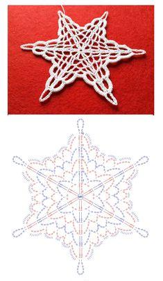 Free Crochet Doily Patterns, Crochet Snowflake Pattern, Crochet Stars, Crochet Snowflakes, Thread Crochet, Crochet Motif, Crochet Doilies, Knit Crochet, Crochet Christmas Trees