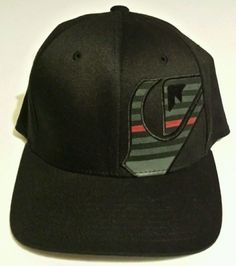 Quicksilver Sports Hat Grande Flex Cap New Era 39Thirty Black Size L/XL NWT  #Quicksilver #BaseballCap