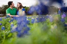 A Spring engagement session among the Texas Bluebonnets at Brushy Creek Lake Park.