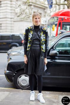 London Fashion Week FW 2014 Street Style: Veronika Heilbrunner