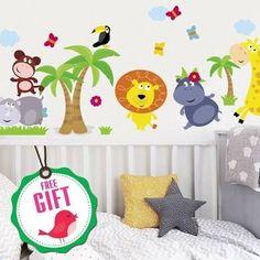 2016 New Arrival Owls Monkey Tree Height Chart Kids Growth Measurement Nursery Wall Sticker Decal Asd Home & Garden