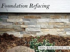 Refacing - How to Cover a Cinder Block Foundation The Curb Appeal Series: Foundation Refacing. Ok this is nice but on the list it's pretty low.The Curb Appeal Series: Foundation Refacing. Ok this is nice but on the list it's pretty low. Home Renovation, Home Remodeling, Up House, House Front, Front Porch, Side Porch, Home Improvement Projects, Home Projects, Outdoor Projects