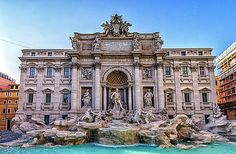 The Trevi Fountain (Italian: Fontana di Trevi) is a fountain in the Trevi district in Rome, Italy, designed by Italian architect Nicola Salvi ( 1697 – The Places Youll Go, Places To See, Trevi Fountain Rome, Architecture Baroque, Modern Architecture, Renaissance Architecture, Famous Buildings, Famous Monuments, City Buildings