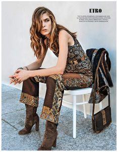 Kristina Salinovic for Grazia Italy September 2015 - Etro