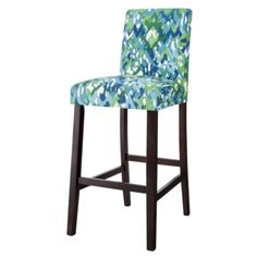 Uptown Bar Stool - Ikat Mix Would be great in my new kitchen.the right colors :) Furniture, Classroom Stools, Home Decor Kitchen, Stool, Bar Furniture, Seat Cushions, Bar Stools, Comfy Leather Chair, Swivel Rocker Recliner Chair