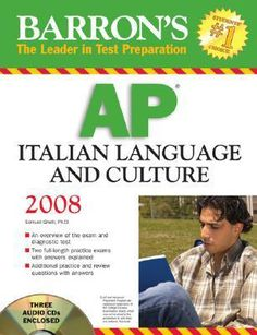 Barron's AP Italian Language and Culture: with Audio CDs by Samuel Ghelli