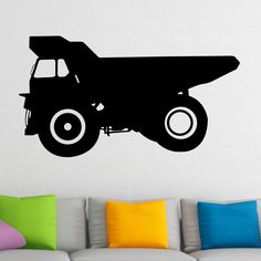 Nice Dumper Truck Wall Sticker