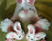 baby bunny slippers hat beanie
