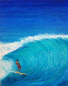 Acrylic on canvas by Newport Loft Surf Art