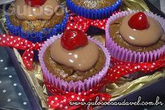 Cupcakes de Banana e Aveia » Liquidificador, Receitas Saudáveis, Tortas e Bolos » Guloso e Saudável