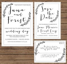Modern Calligraphy Wedding Invitation by OliveJuiceStationery, $50.00