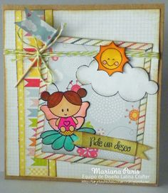 "Card made by using ""Charming Collection"" clear stamps set. Available at http://www.latinacrafter.com/softpencil-studios.html"