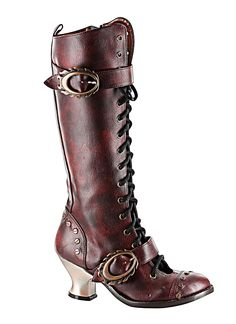 Vintage Burgundy Thundra This is what it'll take to put me in heels. Want more Steampunk? www.Steampunk.LuckyFindsOnline.com updated daily,