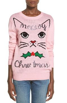 Free shipping and returns on Ten Sixty Sherman 'Meowy Christmas' Sweater at Nordstrom.com. Whether you've been naughty or mice this year, get a little catty in a purr-posely punny holiday sweater fronted with a pretty kitty and a fantastically feline holiday greeting.