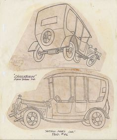 Wacky Racers ~ Anthill Mob Car ~ Chuggaboom Sketch Sheet 01