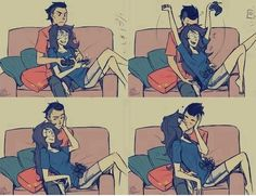 Me & babe when we play COD or Halo. :3
