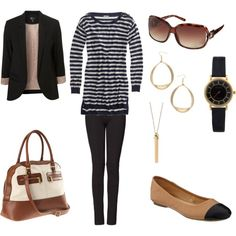 Monday Outfit, created by annekehildebrand on Polyvore featuring the Stella & Dot - Rebel Pendant Necklace