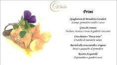 I Primi Piatti proposti dal White Gourmet Restaurant   Per Info e Prenotazioni: Tel. +39 080 8870111 - info@borgobianco.it www.borgobianco.it