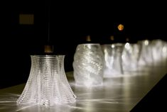 In collaboration with the MIT Glass Lab, theMediated Matter group at the MIT Media Lab has produced a way to 3D print glass, creating intricate patterns from molten glass inside a kiln-like printer and giving a completely modern twist to the 4,500 year-old material. The video produced to exhibit th