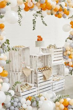 Balloon Garland, Balloon Decorations, Birthday Decorations, Wedding Decorations, Decoration Party, Balloon Arch, Baloon Decor, White Party Decorations, Orange Party