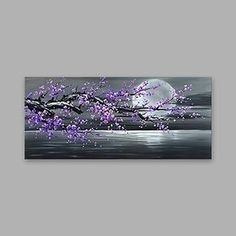 Oil Painting Hand Painted - Landscape Modern Canvas 2018 - $2643.4