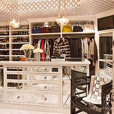 Jeff Andrews Design - closets -marble tiled floors, hermes wallpaper