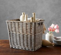 Willow Tall Basket #potterybarn #mypotterybarn