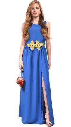Accesorios para vestido azul pavo
