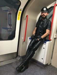 boy this is the leather slave train car, get naked and chain yourself in.I am the enforcer Mens Leather Pants, Tight Leather Pants, Tall Leather Boots, Motorcycle Leather, Biker Leather, Leather Gloves, Black Leather, Leder Outfits, Black Gloves