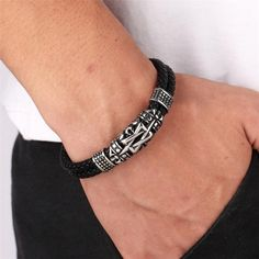 Item Type: BraceletsGender: UnisexClasp Type: Easy-hookMaterial: LeatherMetals Type: Stainless SteelChain Type: Genuine LeatherSize: Material : Stainless Steel/Genuine Leather *** Please allow days for delivery *** Ancient Architecture, Unisex, Instagram, Bracelets, Silver, Leather, Jewelry, Products, Bangle Bracelets