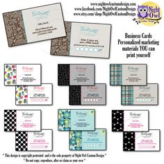 Business Cards for Thirty One Gifts Consultants by Night Owl Custom Design, on Etsy - $12.00