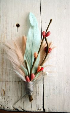 feathers and berries!   42 Lovely Ideas For A Cold-Weather Wedding