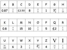 Fraction code breaker by lornagmaxwell - Teaching Resources - Tes