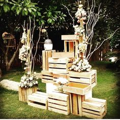 Love this serene garden wedding set up! For more check this http://www.3productionweddings.com/gallery.html