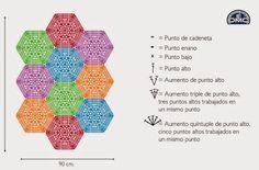 El blog de Dmc: Patrón de regalo para alfombra de Natura XL