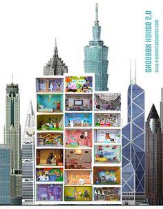Lilla A The Shoebox House 20 Exhibition Jede Schuhschachtel Ein Zimmer