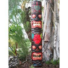 Tropical Backyard, Tropical Decor, Backyard Beach, Backyard Paradise, Tropical Paradise, Man Cave Wall Art, Wood Wall Art, Tiki Totem, Tiki Tiki
